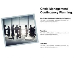 Crisis Management Contingency Planning Ppt Powerpoint Presentation Icon Images Cpb