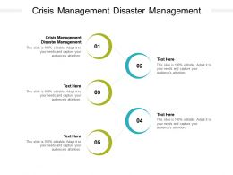 Crisis Management Disaster Management Ppt Powerpoint Presentation Portfolio Cpb