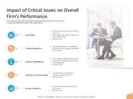 Crisis Management Impact Of Critical Issues On Overall Firms Performance Ppt Templates