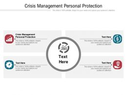 Crisis Management Personal Protection Ppt Powerpoint Presentation Show Cpb