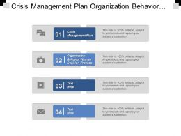 Crisis Management Plan Organization Behaviour Human Decision Processes Cpb