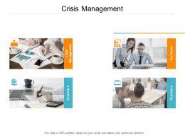 Crisis Management Ppt Powerpoint Presentation Ideas Inspiration Cpb