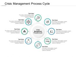 Crisis Management Process Cycle Ppt Powerpoint Presentation File Introduction Cpb