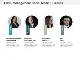Crisis Management Social Media Business Continuity Plan Interaction Learning Cpb