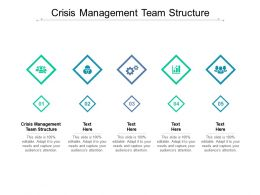 Crisis Management Team Structure Ppt Powerpoint Presentation Summary Inspiration Cpb
