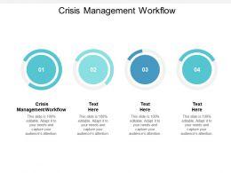 Crisis Management Workflow Ppt Powerpoint Presentation Slides Portrait Cpb