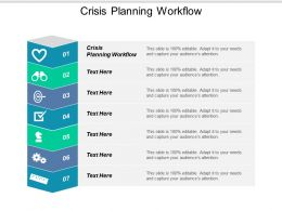 Crisis Planning Workflow Ppt Powerpoint Presentation Icon Designs Cpb