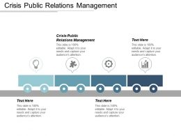 Crisis Public Relations Management Ppt Powerpoint Presentation Icon Outline Cpb