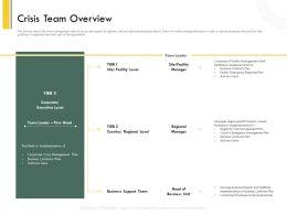 Crisis Team Overview Continuity Ppt Powerpoint Presentation Portfolio Example