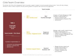 Crisis Team Overview Management Ppt Powerpoint Presentation Infographic Template Picture