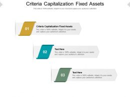 Criteria Capitalization Fixed Assets Ppt Powerpoint Presentation Professional Picture Cpb
