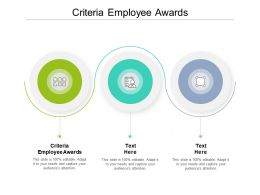Criteria Employee Awards Ppt Powerpoint Presentation Model Inspiration Cpb