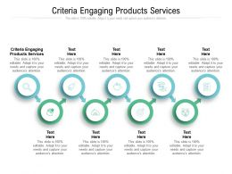 Criteria Engaging Products Services Ppt Powerpoint Presentation Ideas Vector Cpb