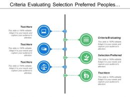 Criteria Evaluating Evaluation Selection Preferred Peoples Systems