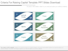 Criteria For Raising Capital Template Ppt Slides Download