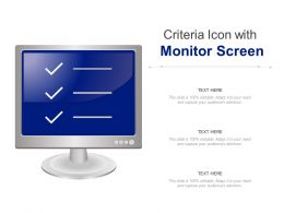 Criteria Icon With Monitor Screen