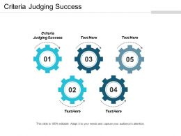 Criteria Judging Success Ppt Powerpoint Presentation Gallery Graphic Tips Cpb