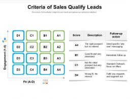 Criteria Of Sales Qualify Leads