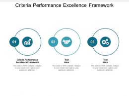 Criteria Performance Excellence Framework Ppt Powerpoint Presentation Infographic Template Graphics Example Cpb