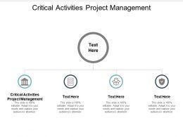 Critical Activities Project Management Ppt Powerpoint Presentation File Slide Portrait Cpb