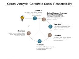 Critical Analysis Corporate Social Responsibility Ppt Powerpoint Presentation Icon Templates Cpb