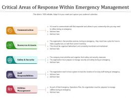 Critical Areas Of Response Within Emergency Management