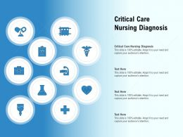 Critical Care Nursing Diagnosis Ppt Powerpoint Presentation Layouts File Formats