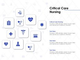 Critical Care Nursing Ppt Powerpoint Presentation Gallery Visual Aids