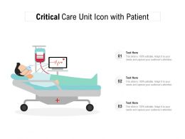 Critical Care Unit Icon With Patient