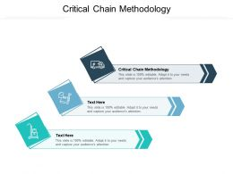 Critical Chain Methodology Ppt Powerpoint Presentation Professional Cpb
