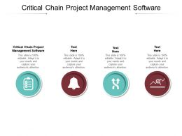 Critical Chain Project Management Software Ppt Powerpoint Presentation Ideas Gallery Cpb