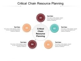 Critical Chain Resource Planning Ppt Powerpoint Presentation Pictures Gridlines Cpb