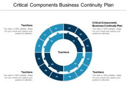 Critical Components Business Continuity Plan Ppt Powerpoint Presentation Ideas Graphics Cpb
