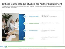 Critical Content To Be Studied For Partner Enablement Expectations S42 Ppt Outline Template