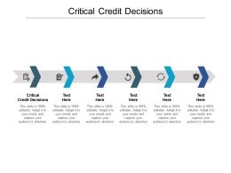 Critical Credit Decisions Ppt Powerpoint Presentation Icon Rules Cpb