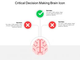 Critical Decision Making Brain Icon