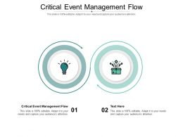 Critical Event Management Flow Ppt Powerpoint Presentation Ideas Graphics Download Cpb