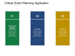 Critical Event Planning Application Ppt Powerpoint Presentation Styles Backgrounds Cpb