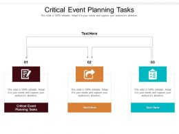 Critical Event Planning Tasks Ppt Powerpoint Presentation Gallery Mockup Cpb