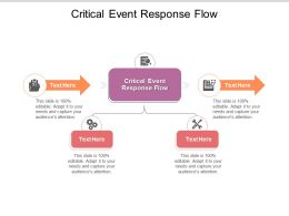 Critical Event Response Flow Ppt Powerpoint Presentation Gallery Visual Aids Cpb