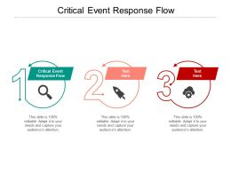 Critical Event Response Flow Ppt Powerpoint Presentation Professional Pictures Cpb
