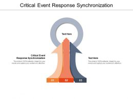 Critical Event Response Synchronization Ppt Powerpoint Presentation Summary Inspiration Cpb