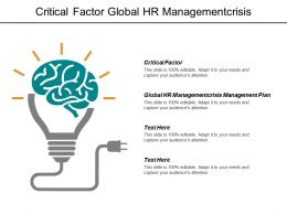 Critical Factor Global Hr Managementcrisis Management Communication Plan Cpb