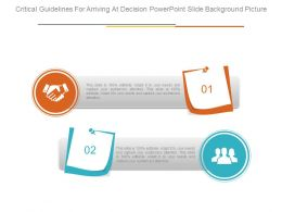 Critical Guidelines For Arriving At Decision Powerpoint Slide Background Picture
