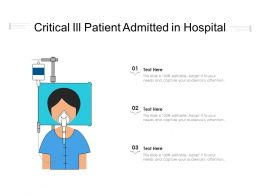 Critical Ill Patient Admitted In Hospital