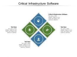 Critical Infrastructure Software Ppt Powerpoint Presentation Outline Skills Cpb