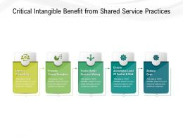 Critical Intangible Benefit From Shared Service Practices
