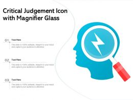 Critical Judgement Icon With Magnifier Glass
