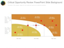 Critical Opportunity Review Powerpoint Slide Background