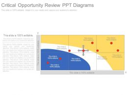 Critical Opportunity Review Ppt Diagrams